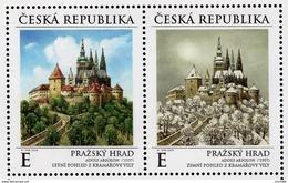 2019 : Le Château De Prague Au Cours Des Saisons : été Et Hiver - Neufs