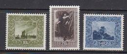 Liechtenstein 1954 Paintings Overprinted  3v * Mh (=mint, Hinged) (42864) - Liechtenstein