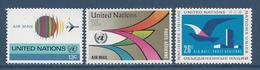 Nations Unies New York - YT PA N° 19 à 21 - Poste Aérienne - Neuf Sans Charnière - 1974 - New York – UN Headquarters