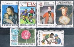 Maldivas 1973 / 76  -  Michel  454 + 479 + 506 + 521 + 642 + 702  ( ** ) - Maldivas (1965-...)
