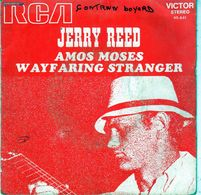 Disque De Jerry Reed - Amos Moses - RCA Victor 45.641 - 1970 - Country & Folk