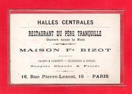 75-CPA PARIS - CARTE GAUFFREE - HALLES CENTRALES - RESTAURANT DU PERE TRANQUILLE - RUE PIERRE LESCOT 16ème Arr - Arrondissement: 16