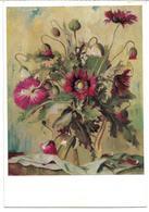 3074l: Kunst- AK Otto Vaeltl, Blühender Mohn, Gelaufen 1964 - Blumen