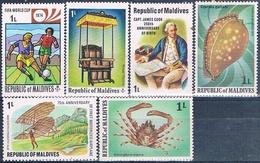 Maldivas 1974 / 79  -  Michel  521 + 561 + 740 + 772 + 780 + 808  ( ** ) - Maldivas (1965-...)