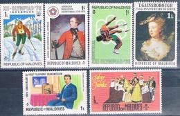 Maldivas 1976  -  Michel  633 + 642 + 651 + 663 + 680 + 689 + 702  ( ** ) - Maldivas (1965-...)