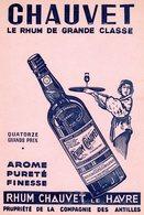 Buvard - Chauvet Le Rhum De Grande Classe - Rhum Chauvet Le Havre - - Papel Secante