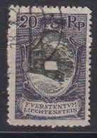 Liechtenstein 1921 Freimarke 20Rp  St. Mamertus-Kapelle Used (42866) - Gebruikt