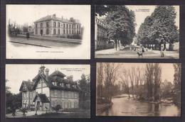LOT 20 CPA 77 SEINE ET MARNE - VILLAGES Qques VILLES ANIMATION Plusieurs Châteaux Eglise Gendarmerie TBE - Autres Communes