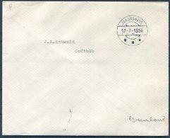 1956 Greenland Internal (stamp Free Mail) Cover. Jakobshavn - Godthab - Covers & Documents