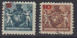 Liechtenstein 1924 Freimarken Aufdruck 2v  Perf. 9,5 Used (42866E) - Gebruikt