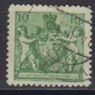 Liechtenstein 1921 Freimarke Landeswappen 10Rp Perf. 12.5 Used (42866F) - Gebruikt