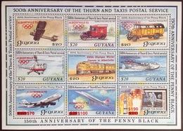 Guyana 1991 Winter Olympics Aircraft Aviation Sheetlet MNH - Guyana (1966-...)