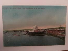 CPA, Souvenir De Salonique Vue Panoramique De La Tour Blanche, écrite En1917, éditeur Hananel Naar - Griekenland