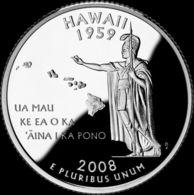 USA. 25 Cents. Quarter. States Of The USA. Hawaii. UNC. 2008 D - Emissioni Federali