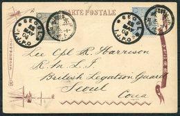 "1904 Korea ""The Yashima And Capt. Sakamoto"" Postcard. Seoul I.J.P.O. Japanese Post Office - British Legation Guard - Korea (...-1945)"