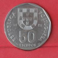 PORTUGAL 50 ESCUDOS 1991 -    KM# 636 - (Nº28943) - Portugal
