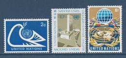 Nations Unies New York - YT N° 242 à 244 - Neuf Sans Charnière - 1974 - New York – UN Headquarters