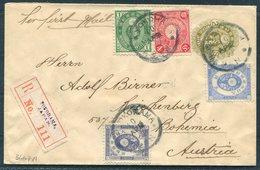 1899 Japan Yokohama Registered Uprated Stationery Cover- Reichenberg Bohemia - Japan