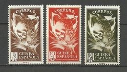 ESPAÑA COLONIAS GUINEA 1951  Yt:ES-GN 328- 330, Edi:ES-GN 306-308 ** MNH - Spanish Guinea