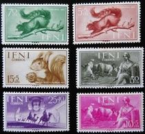 1955 . IFNI Yt 96 / 101 . Edifil 122 / 127 .Complète . Pro Indígenas /  Squirrel . Neufs Charnières - Ifni