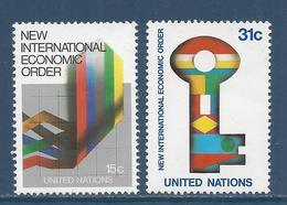 Nations Unies New York - YT N° 308 Et 309 - Neuf Sans Charnière - 1980 - New York – UN Headquarters