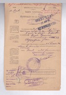 MARINE NATIONALE BREST / NOMBREUX CACHETS / CONGE CONVALESCENCE ACCORDE A MARIN EN 1936/CACHET GENDARMERIE ARRIVEE - Boten