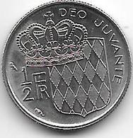 *monaco 1/2 Franc    1965  Km 145   UNC!! - 1960-2001 Nouveaux Francs