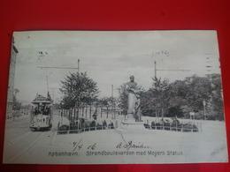 KOBENHAVN STRANDBOULEVARDEN MED MEYERS STATUE - Danemark