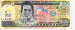 Philippines. Commemorative Banknote. 500 Peso. 45th Meeting Of Managing Directors Of Asian Bank. UNC. 2012 - Filipinas