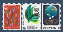 Nations Unies New York - YT N° 359 Et 361 - Neuf Sans Charnière - 1982 - New York – UN Headquarters