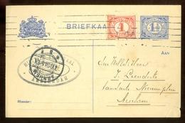 MENGFRANKERING * BRIEFKAART Uit 1908 * GELOPEN Van AMSTERDAM Naar ARNHEM  (11.559m) - Periode 1891-1948 (Wilhelmina)
