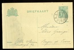 BRIEFKAART Uit 1917 * GELOPEN Van NOORDWIJK Naar BERGEN Op ZOOM  (11.559n) - Postwaardestukken