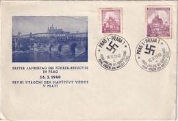 BOHEME ET MORAVIE 1940 LETTRE ILLUSTREE DE PRAGUE - Bohemia & Moravia