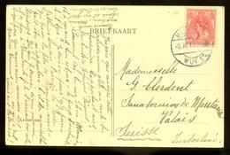 HANDGESCHREVEN BRIEFKAART Uit 1914 * GELOPEN Van MAASTRICHT Naar VALAIS ZWITSERLAND   (11.559p) - Periode 1891-1948 (Wilhelmina)