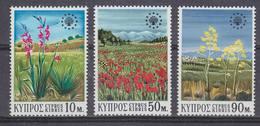Cyprus 1970 European Nature Protection 3v ** Mnh (42869) - Cyprus (Republiek)
