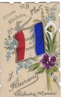 SUPERBE CARTE  CELLULO  ,,,,SOUVENIR DE FLEURANT  Y.  CHALONS SUR MARNE ,,,,15 E CHASSEURS  3 E ESCADRON,, - Souvenir De...