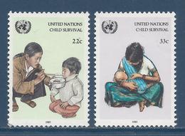Nations Unies New York - YT N° 456 Et 457 - Neuf Sans Charnière - 1985 - New York – UN Headquarters