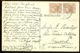 HANDGESCHREVEN BRIEFKAART Uit 1921 * GELOPEN Van BIGGEKERKE Naar BRUSSEL BELGIE   (11.559q) - Periode 1891-1948 (Wilhelmina)
