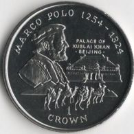 Isle Of Man. Coin. 1 Crown. 1998. UNC. Marco Polo. Kublai Khan's Palace In Beijing. The Great Coin - Regional Coins