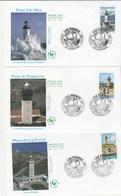 France Lot 6 Enveloppes FDC 2007 Yvert 4112 à 4117 Les Phares - FDC