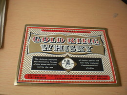 Gold King Whisky  Czechoslocakia Ancient Style Rye Whisky Export - Whisky