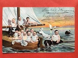 Illustrateur TH. BAUER - WIEN - BEBES DANS UN BATEAU - BABIES IN EEN BOOTJE - Illustrateurs & Photographes