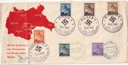 BOHEME ET MORAVIE 1942 LETTRE SOUVENIR MULTIPLES AFFRANCHISSEMENTS - Bohemia & Moravia