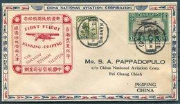 1931 China Nanking - Peiping / Peking  Airmail C.N.A.C. First Flight Cover - China