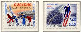 PIA - FINLANDIA  - 1977 : Campionati Del Mondo Di Sci Del 1978 A Lathi - (Yv 780-81) - Sci