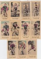 CHROMO'S-CYCLISME-WIELRENNEN-ANNEES'30-LOT 11 IMAGES-TOUR DE FRANCE-1936-DIM+-2,5-5CM-VOYEZ LES 2 SCANS-TOP! ! ! - Ciclismo