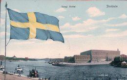 Suède, Stockholm, Kungl. Slottet, Drapeau (5303) - Schweden