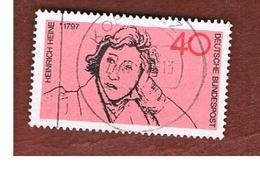 GERMANIA (GERMANY) - SG 1644  - 1972  H. HEINE, POET     - USED - [7] République Fédérale