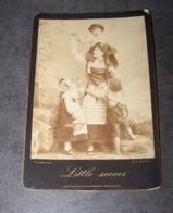 ANCIENNE PHOTO D'APRES NATURE, PHOTOGRAPHIE ARTISTIQUE FIN XIXe DEBUT XXe, ALSACIENNE ET ENFANTS, LITTLE SCENES - Anciennes (Av. 1900)