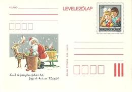 3322e Hungary Postcard Celebration Christmas Fauna Wild Animal Deer Game Unused - Games